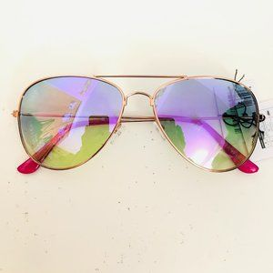 Rose Gold Pink Aviator Barbie Sunglasses
